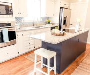 White Kitchen Cabinet Updated Makeover