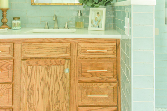 How to Stain a Wood Vanity for Bathroom