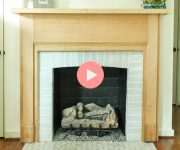 How to Cover Fireplace and Mantel with Wood Veneer to Stain