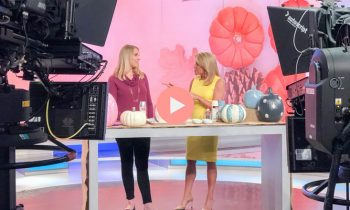 Chelsea Wolf and Susan Hendricks on Weekend Express Glam Pumpkins