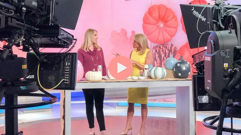 Chelsea Wolf and Susan Hendricks on Weekend Express Glam Pumpkins