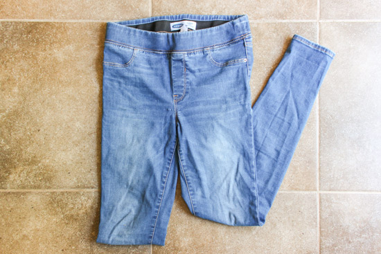 Denim Jeans After Removing Latex Paint from Pant Leg