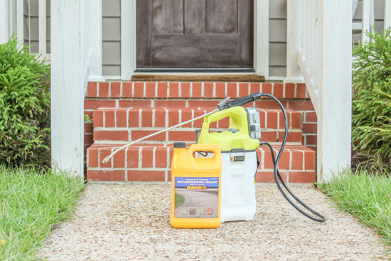 Masonry and Concrete Waterproofing Sealer and Chemical Sprayer