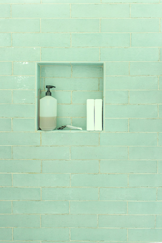Subway Tile Shampoo Bottle Niche Inside Walk In Shower