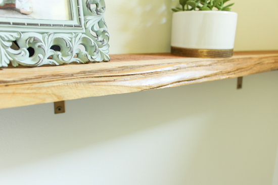 Cedar Wood with Raw Edge Used for Shelf