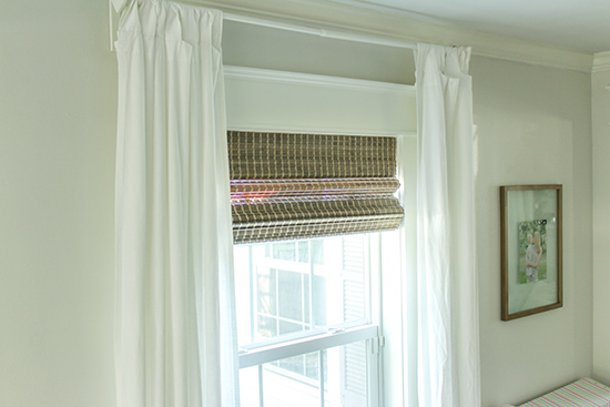 Dress Up White Walls with Wood Window Shades