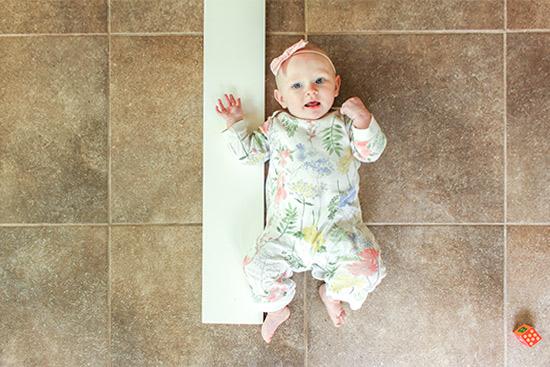 Measuring Baby Length on Keepsake Growth Chart