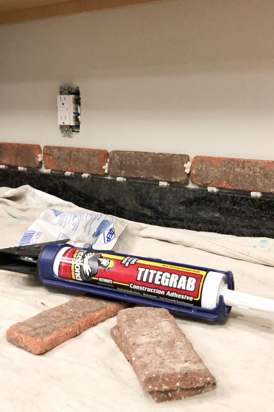Titebond TiteGrab Adhesive for Brick Backsplash Installation