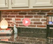 How to Install a Red Split Brick Backsplash