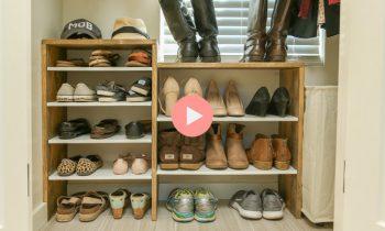 DIY Shoe Rack for Closet Video