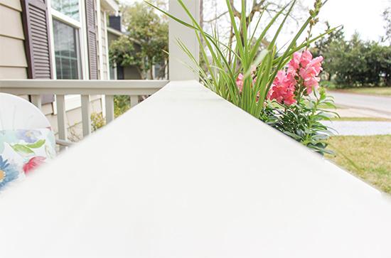 Freshly Painted White Handrails