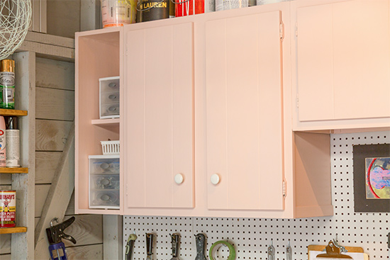 How to Paint and Hang Old Cabinets to Reuse