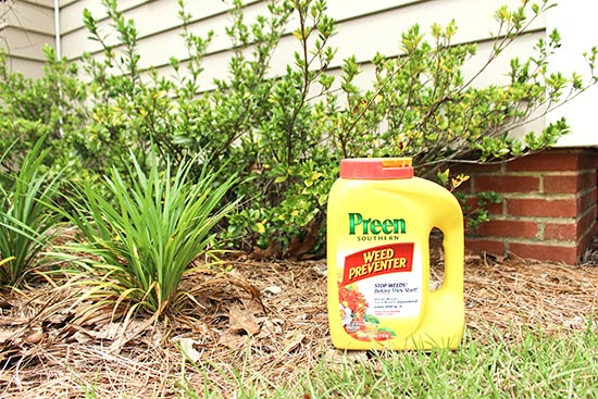 Preen Used to Prevent Weeds in Flower Beds
