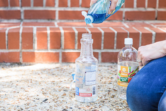 Dish Soap Helps Vinegar Kill Weeds in Yard