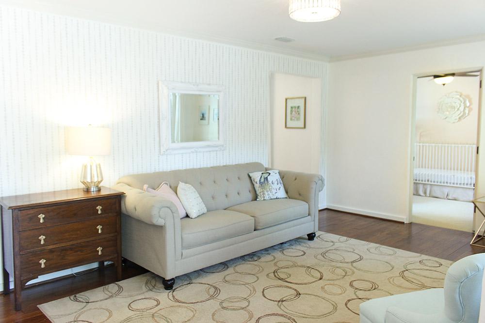 View of Living Room from Front Door
