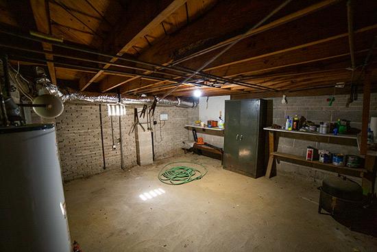 Storage Room Under Crawlspace House