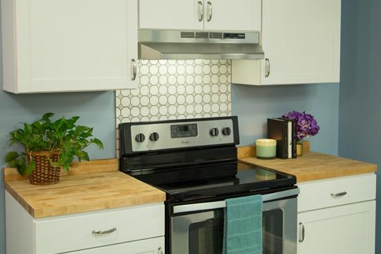 Completed Butcher Block Countertop DIY Install