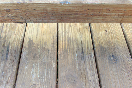 Deck Stain Stripped Before and After