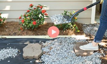 How-To Video Creating Easy DIY Gravel Walkway or Driveway