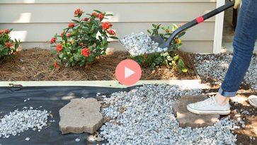 How-To Video Creating Easy DIY Gravel Walkway or Driveway