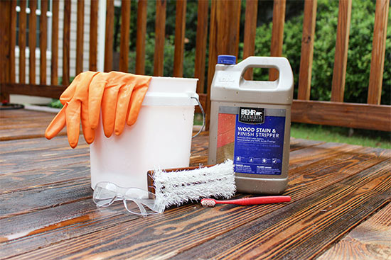 Materials Needed to Refresh Deck by Stripping Stain Behr Premium Wood Stain and Finish Stripper