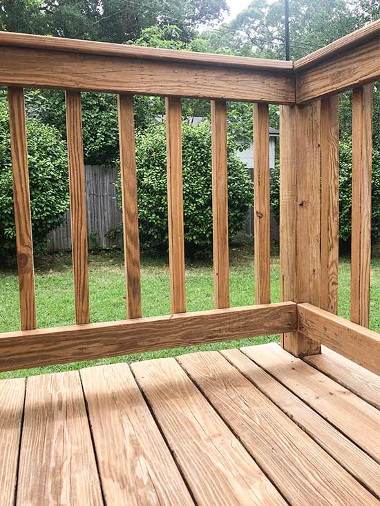 Wood Balusters After Stripping Stain