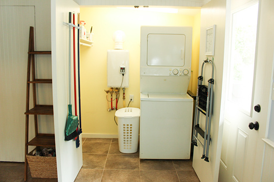 Declutter Closets and Utility Room for Staging Home