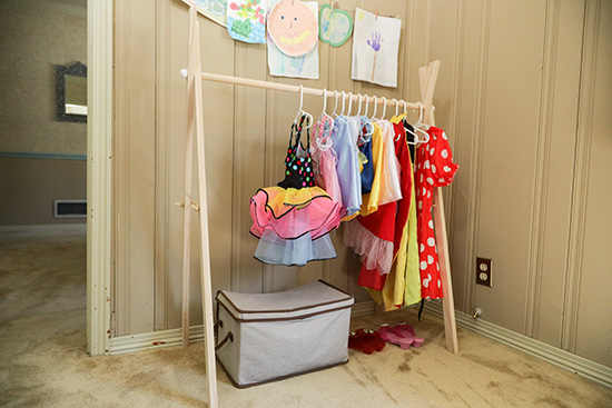 Completed Rack for Dress up Clothes and Costumes