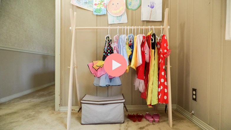 DIY Clothes Rack for Dress Up