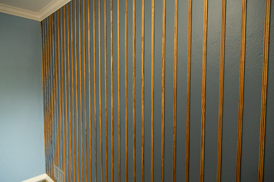Grooved Screen Molding Wood Accent Wall