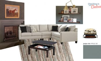 Moodboard for Calm and Cozy Family Room Den