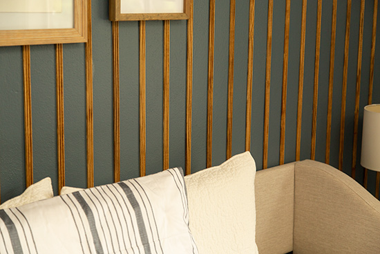 Stained Wood Accent Wall Details