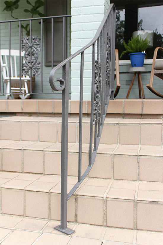 Anodized Bronze Painted Iron Handrails
