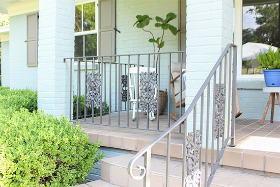 Anodized Bronze Painted Wrought Iron Handrails