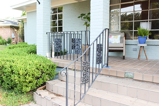 Wrought Iron Handrails Before Painting