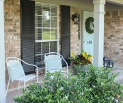 Completed $200 Front Porch Makeover