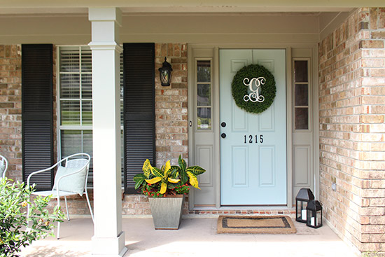 Inexpensive Front Porch Changes
