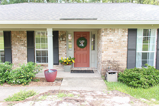 Ranch Home Before Curb Appeal Updates