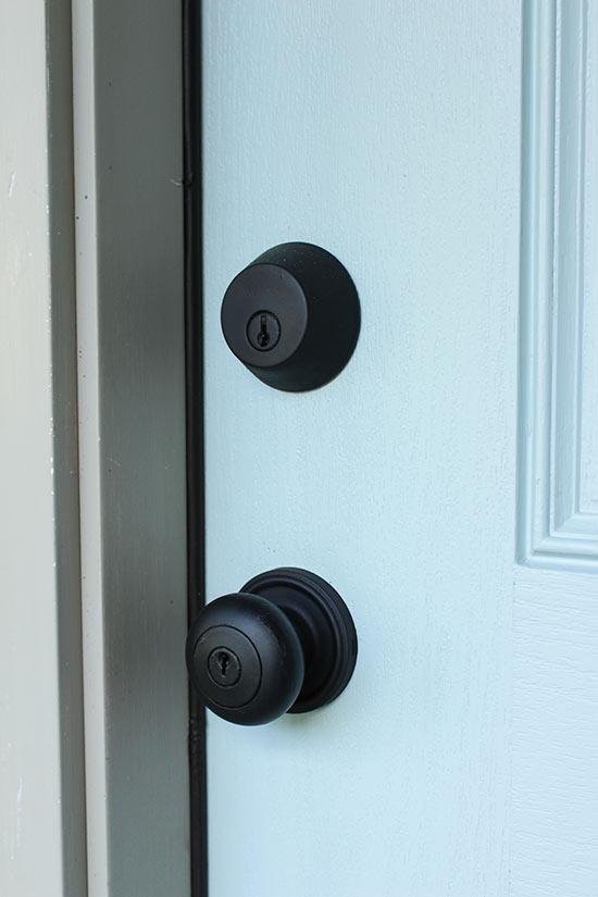 Spray Paint Door Hardware for Fresh Look