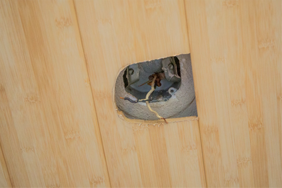 Cut Hole for Light Fixture with Jig Saw