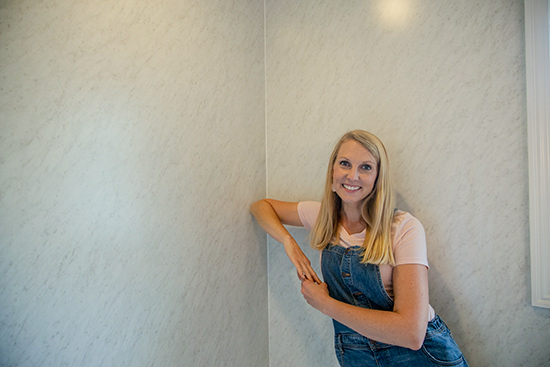 Faux Marble Bathroom Walls