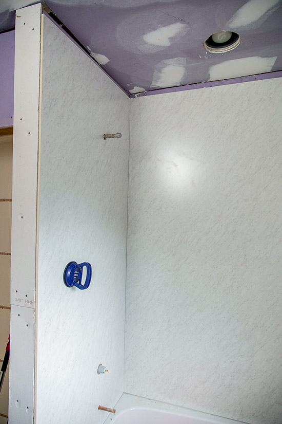 Waterproof Wall Panels Installed as Shower Surround