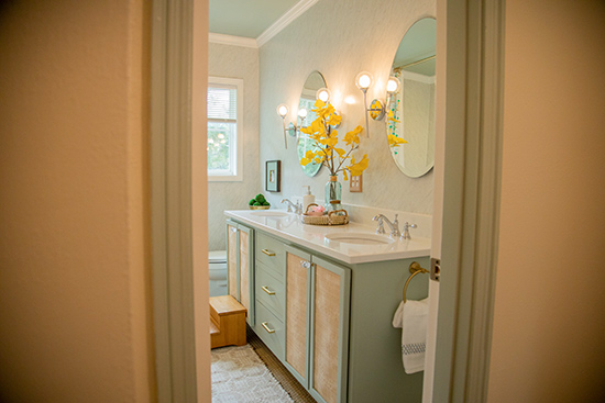 Completed Hall Bathroom Renovation with DIY Vanity