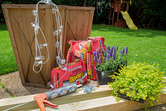 Materials Needed for Planter String Light Project